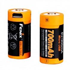 Аккумулятор 16340 Fenix ARB-L16-700UP (700 mAh) защищенный, c разъемом микро-USB