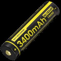 Аккумулятор 18650 Nitecore NL1834R (3400mAh USB), защищенный, c разъемом микро-USB
