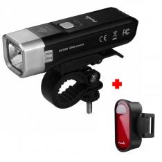 Комплект: велофара Fenix BC25R + задний фонарь Fenix BC05R в подарок!