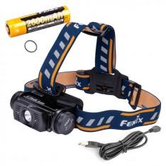 Фонарь Fenix HL60R + аккумулятор Fenix 2600 mAh и зарядка