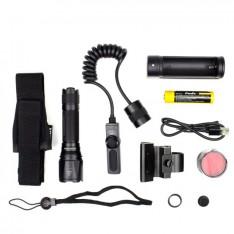 Тактический набор Fenix (фонарь TK09 + тактическая кнопка + крепление на оружие + красный фильтр + аккумулятор и з/у)