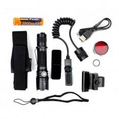 Тактический набор Fenix (фонарь TK20R + тактическая кнопка + крепление на оружие + красный фильтр + аккумулятор)