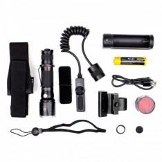 Тактический набор Fenix (фонарь TK15UE + тактическая кнопка + крепление на оружие + красный фильтр + аккумулятор и з/у)