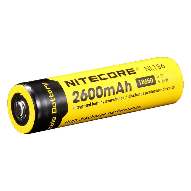 Аккумулятор Li-Ion 18650 Nitecore 3.7V (2600mAh), защищенный