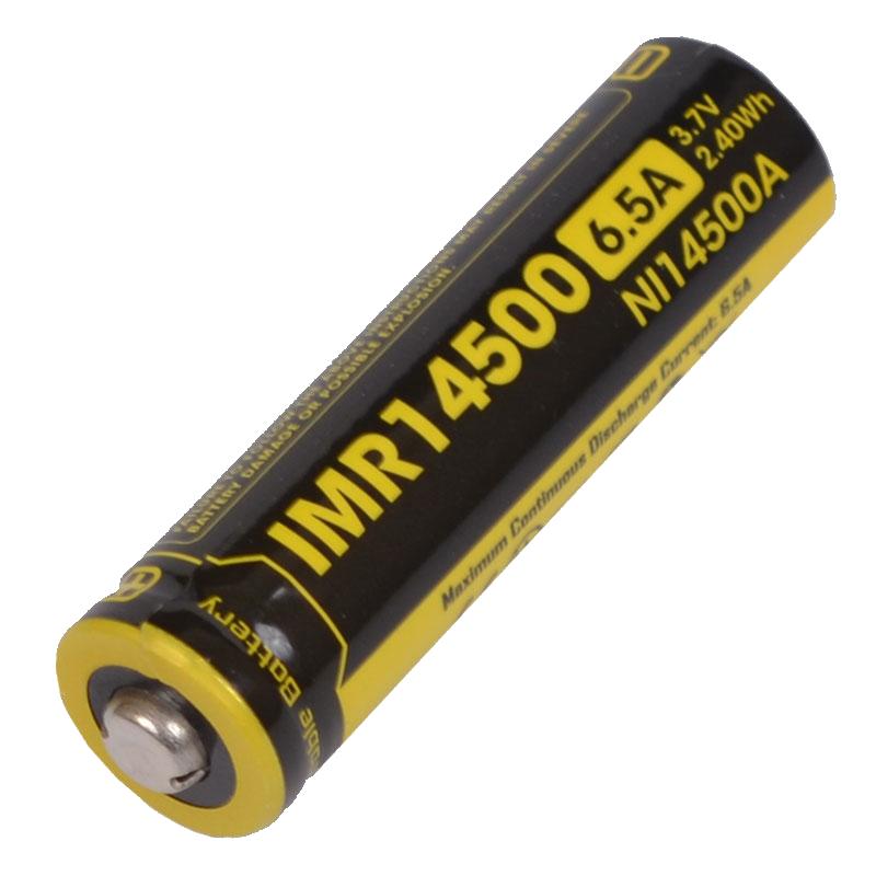 Аккумулятор IMR14500 (650mAh) Nitecore NL14500A