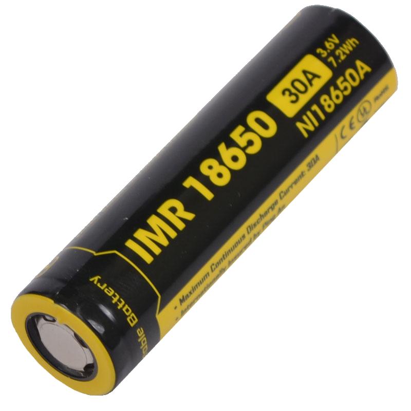 Аккумулятор IMR18650 (2000mAh) Nitecore NL18650A