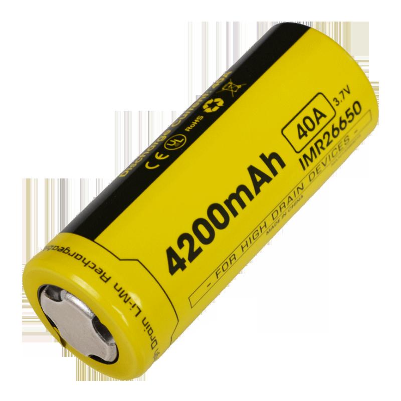 Аккумулятор IMR26650 (4200mAh) Nitecore NL26650