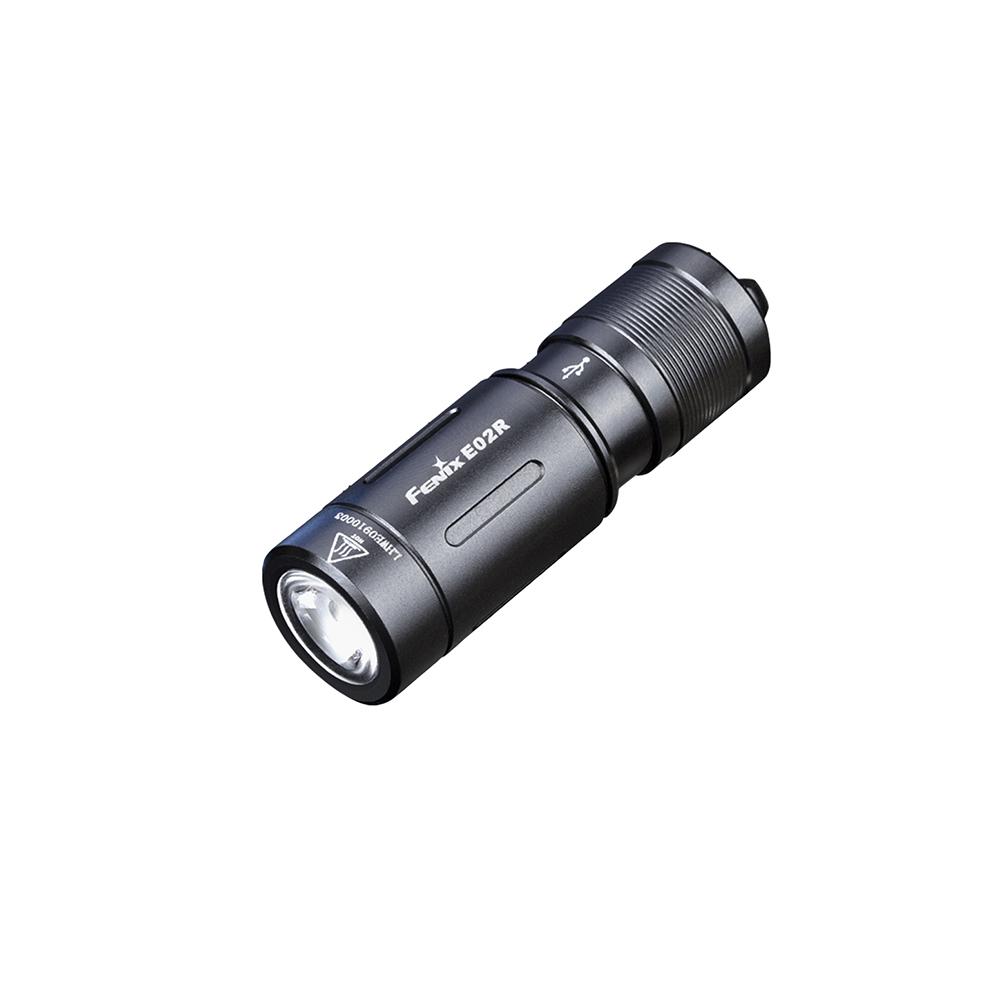 Ліхтар ручний Fenix E02R чорний