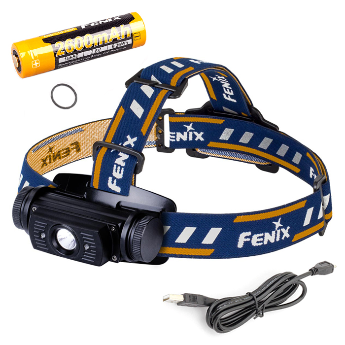 Фонарь Fenix HL60R + аккумулятор и зарядка