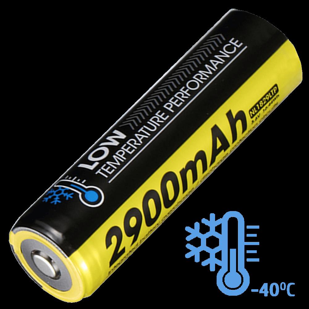 Аккумулятор Li-Ion 18650 Nitecore NL1829LTP (2900mAh, -40°С), 3.6V, защищенный