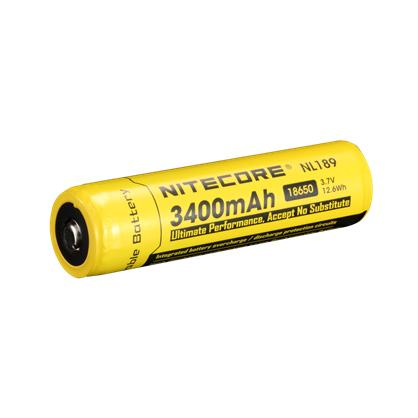 Аккумулятор Li-Ion 18650 Nitecore 3.7V (3400mAh), защищенный