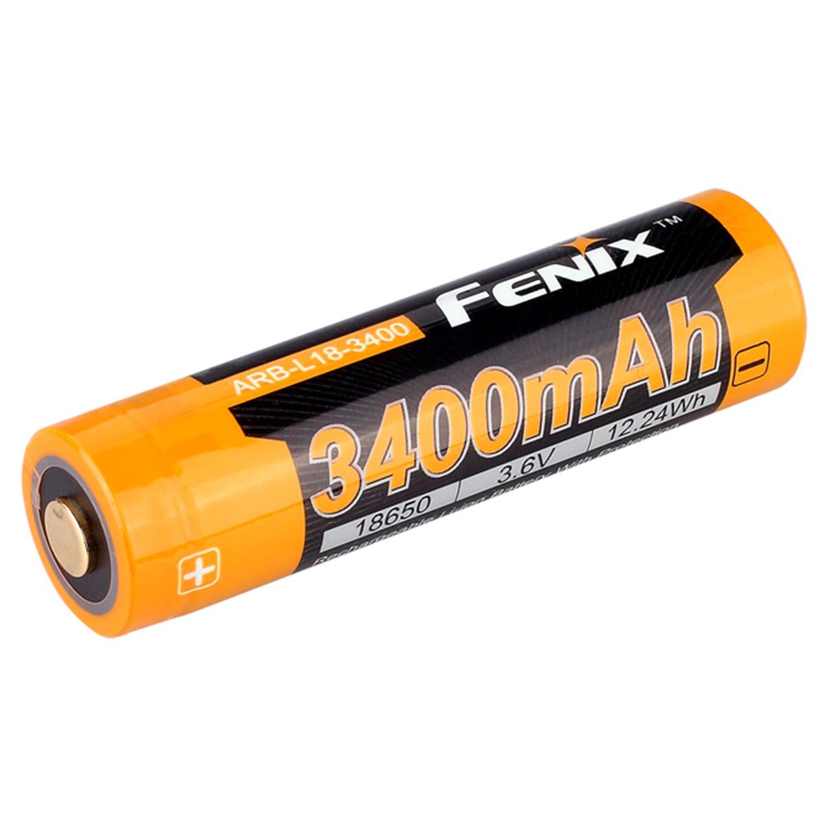 Аккумулятор 18650 3400 mAh Fenix ARB-L18, защищенный